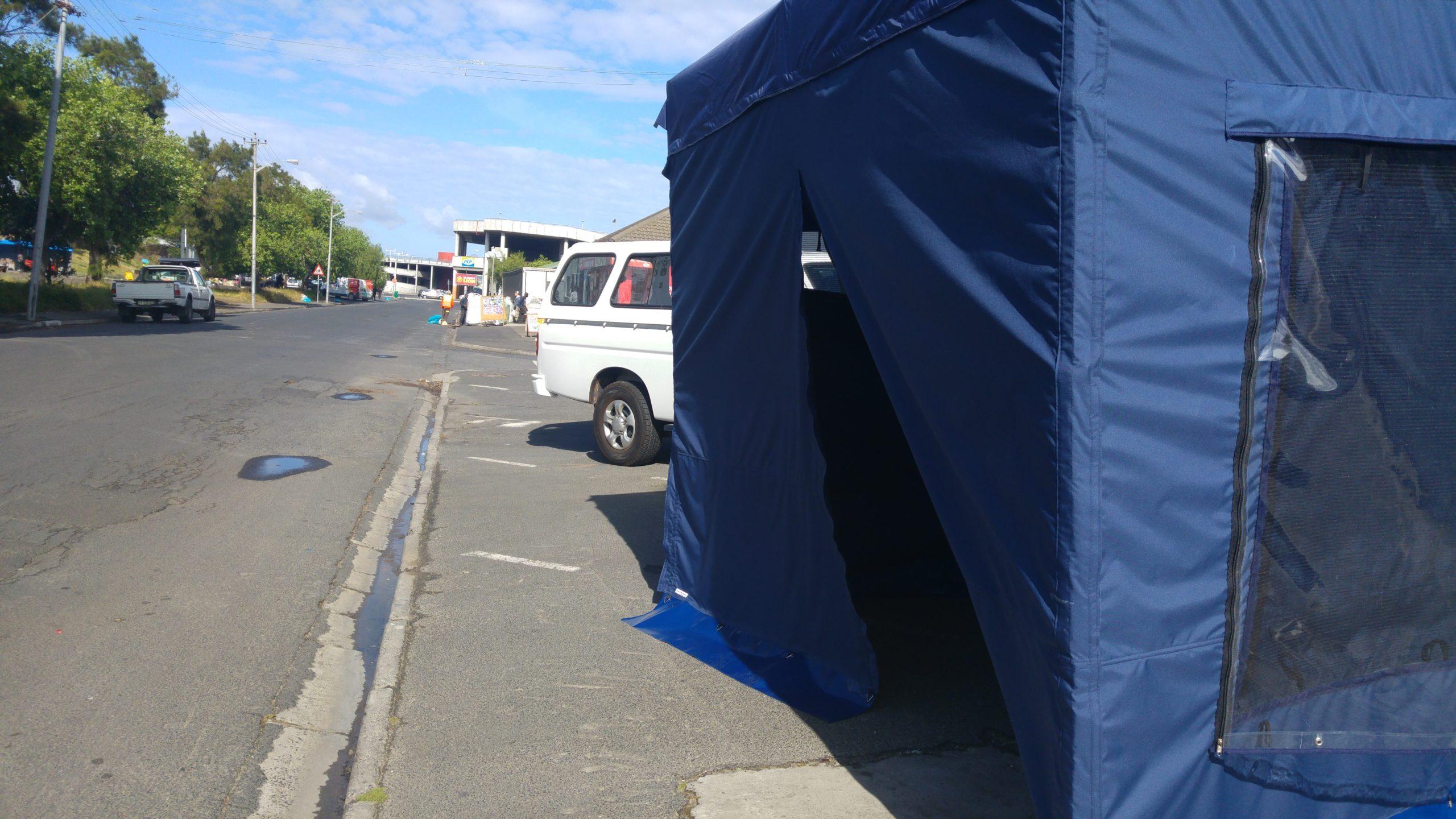 Big blue tent