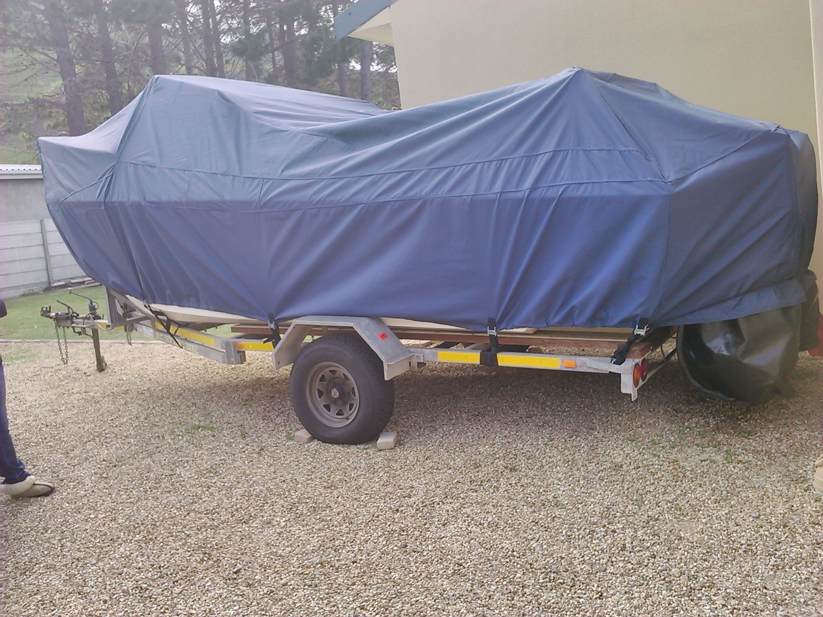 Blue Boat Cover Side