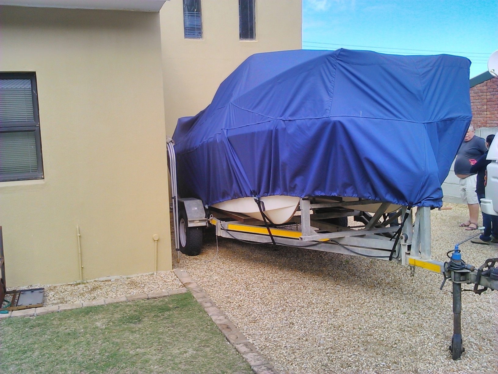 Blue Boat Cover Front